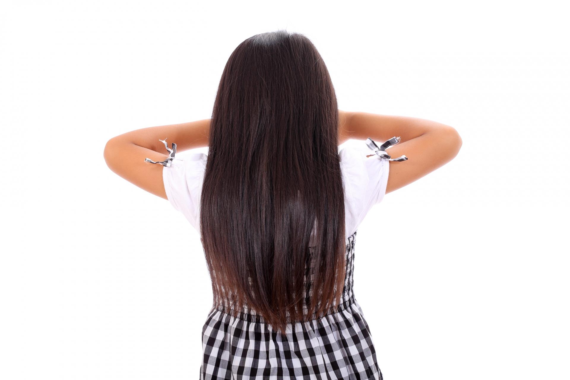 しっとりまとまった髪