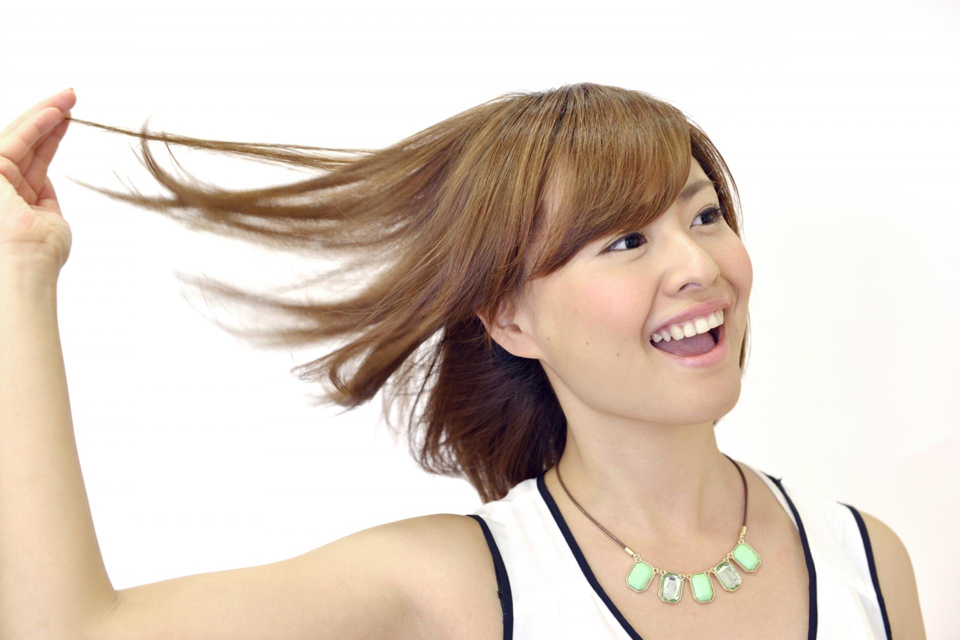 サラサラな髪の女性